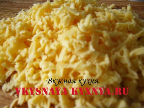 Сыр натертый на терке