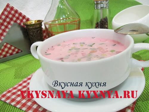 Холодник в тарелке
