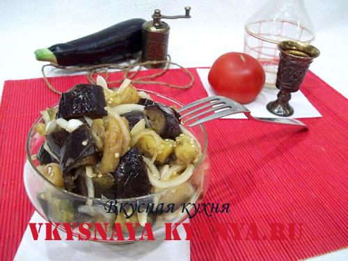 Маринованные баклажаны с луком и чесноком – быстрая закуска сейчас и как заготовить на зиму