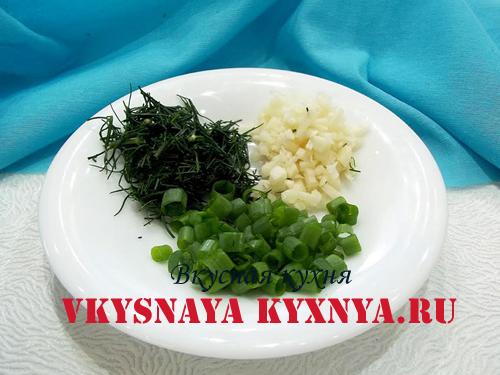 Зелень и чеснок для картофеля