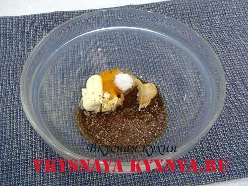Соевый маринад, ингредиенты