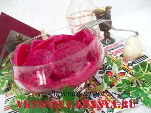 Маринованная свекла - вкусная закуска и заправка для борща
