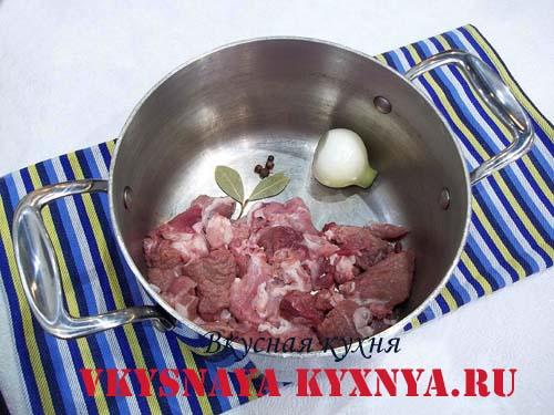 Мясо для борща