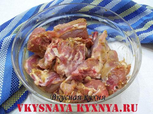 Мясо кролика в маринаде