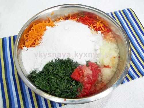 Овощи с солью