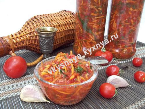 Ароматная овощная заправка на зиму для супа, борща и овощных блюд