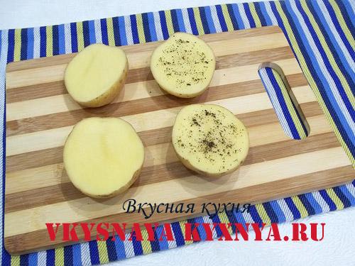 Приправленный специями картофель