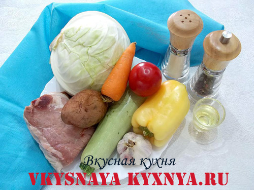 Домляма по-узбекски, ингредиенты
