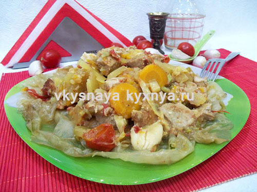 Домляма по-узбекски в тарелке