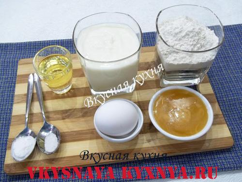 Американские блинчики панкейки , ингредиенты