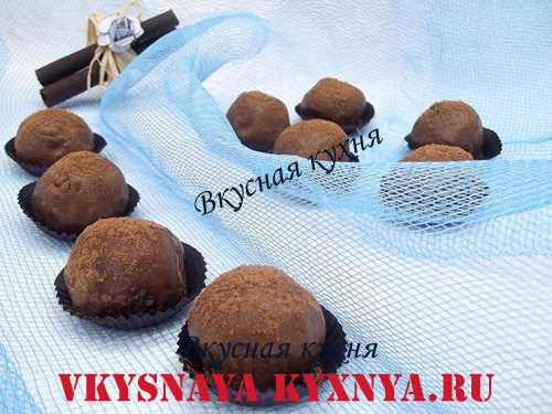 Домашние конфеты из печенья, орехов и какао, рецепт с пошаговым фото