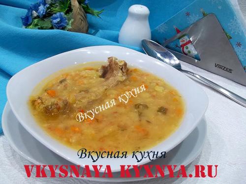 рецепт вкусного постного горохового супа с