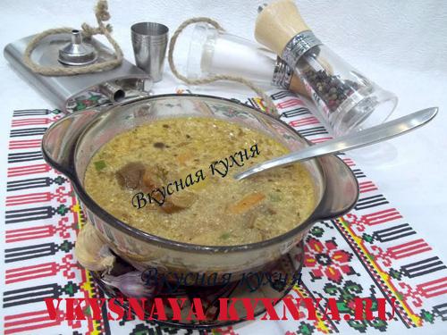 Грибная юшка по-закарпатски из сухих грибов, рецепт с пошаговым фото