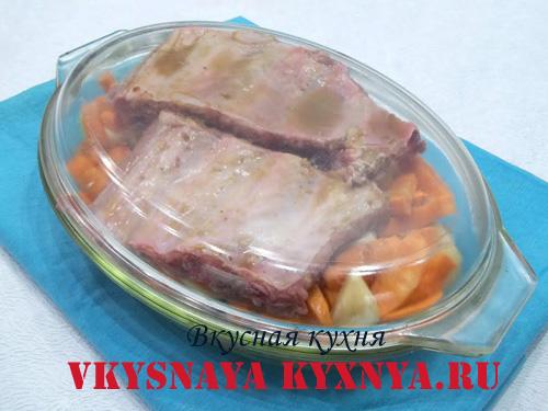 Свиные ребрышки запеченные в духовке