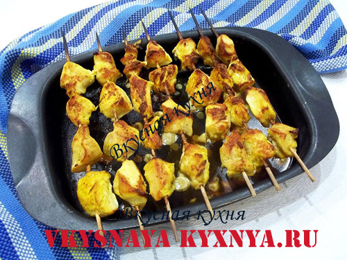 Курица на шпажках в духовке рецепт с пошагово