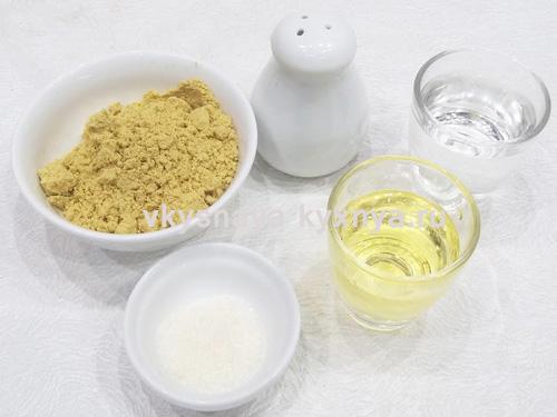 Домашняя горчица из сухого порошка, ингредиенты