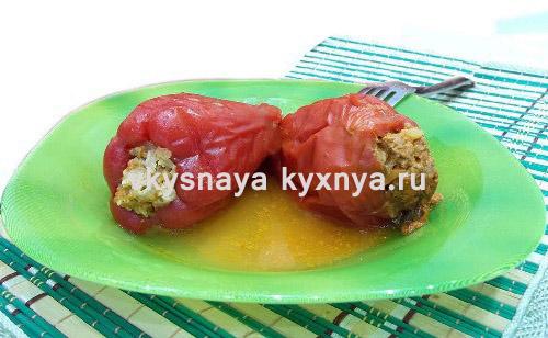Как готовить фаршированные замороженные болгарские перцы