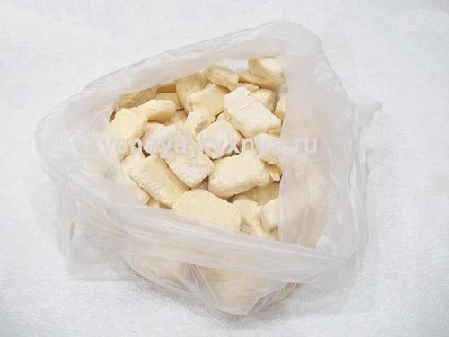 Замороженные вареники в пакете