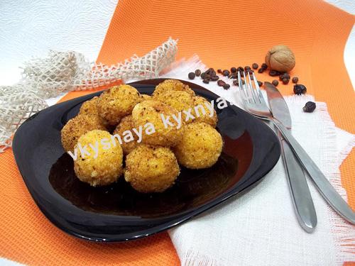 Сырные шарики оригинальная закуска к пиву и на праздничный стол