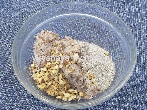 Добавление отрубей и грецких орехов