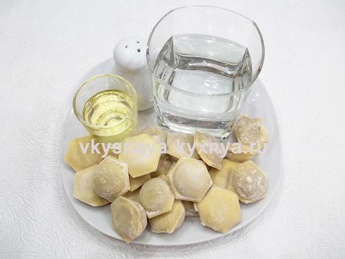 Жареные пельмени на сковороде ингредиенты