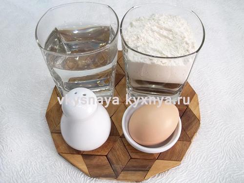Домашние пельмени ингредиенты для теста