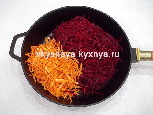 Пассеровка моркови и свеклы