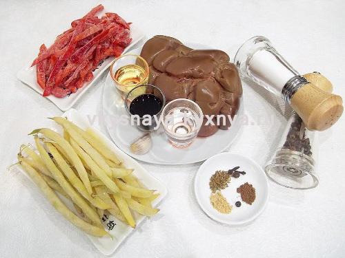 Тушеные говяжьи почки с овощами, ингредиенты