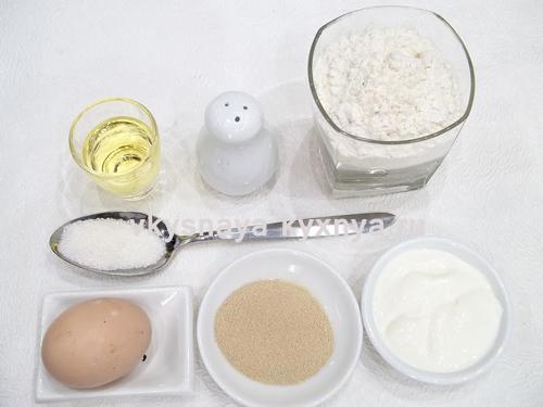 Дрожжевое тесто ингредиенты