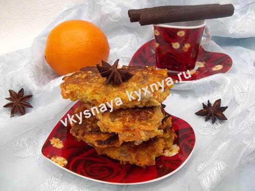 Морковные оладьи, рецепт с фото пошагово