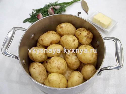 Отваривание молодого картофеля