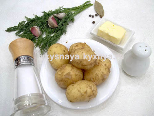Отварная молодая картошка ингредиенты
