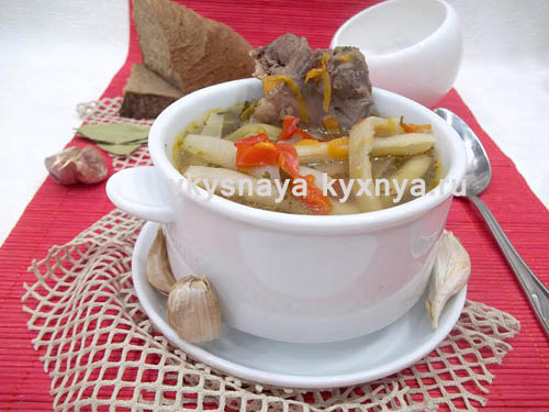 Суп из утки, простой рецепт приготовления с пошаговым фото
