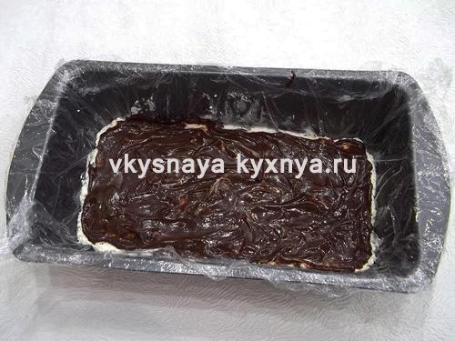 Добавление шоколадной глазури