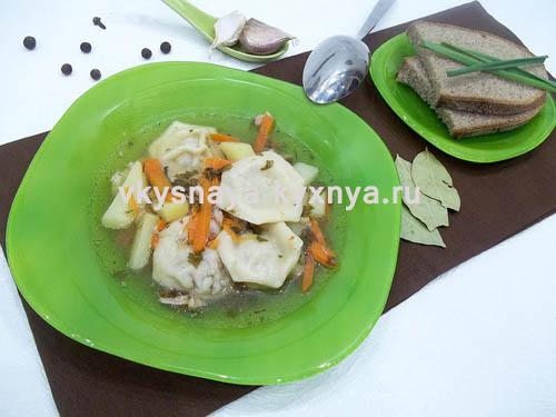Сытный суп с пельменями, рецепт с пошаговым фото