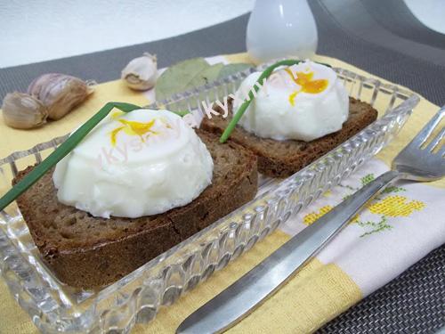 Французское блюдо яйцо пашот