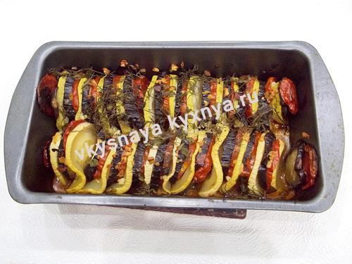 Готовый овощной рататуй