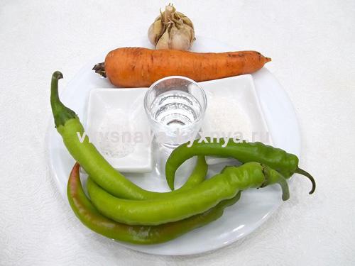 Маринованный острый стручковый перец ингредиенты
