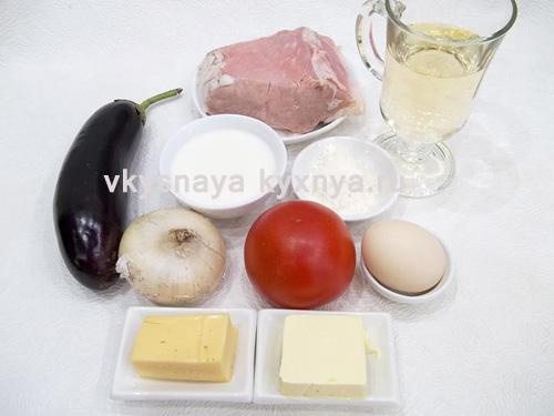 Мусака по-гречески ингредиенты
