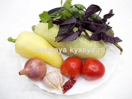 Овощной рататуй ингредиенты