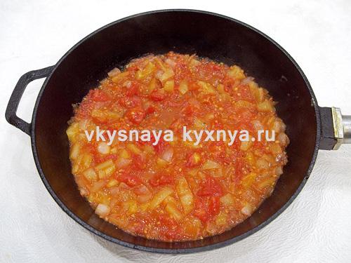Томатный соус из овощей