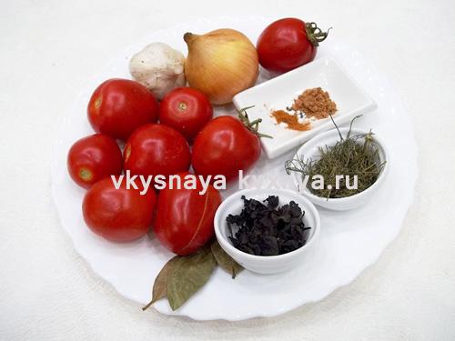 Домашний томатный соус из помидоров ингредиенты