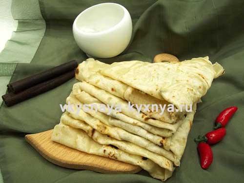 Тонкий армянский лаваш, как приготовить на сковороде, рецепт с фото