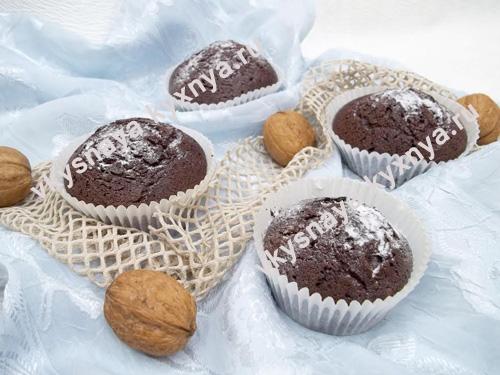 Шоколадные кексы «Брауни», рецепт с фото