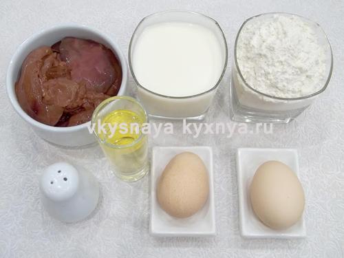 Как приготовить печеночные блинчики
