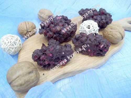 Гранат в шоколаде: рецепт вкусного и полезного десерта