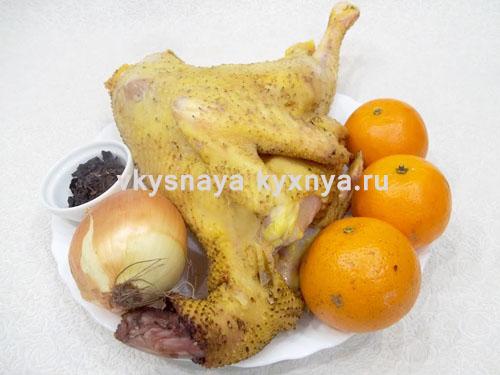 Рецепт курицы с мандаринами