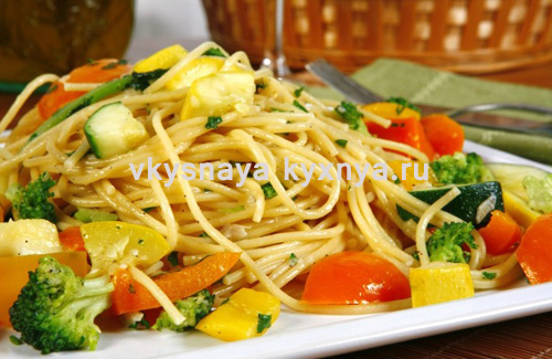 Макароны с овощами по итальянски