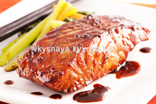 Как приготовить красную рыбу под соевым соусом