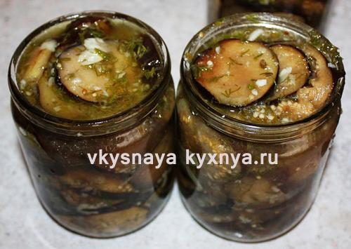 Баклажаны жареные на зиму: рецепт с чесноком